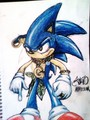 straight out of compt!!! - sonic-the-hedgehog fan art