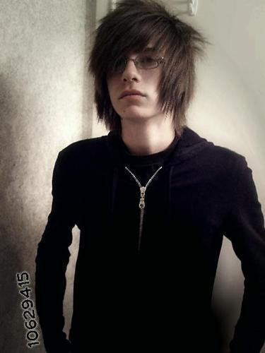 Cute Emo Boy with Glasses - emo Photo
