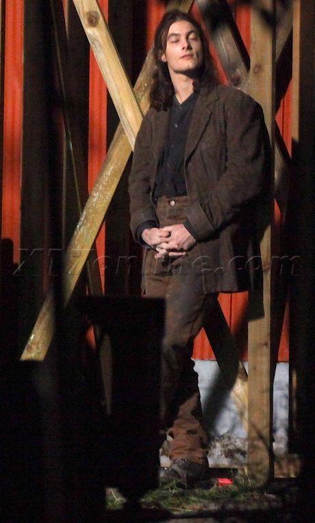 Jack Huston on the set of Eclipse