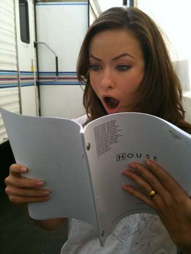 Olivia Wilde's reaction to a season 6 episode script