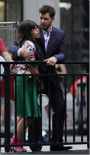 on set of ugly betty-aug 20/09