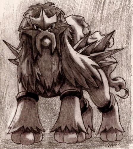 A entei drawing