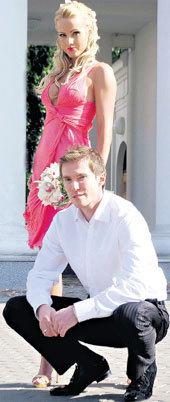 Alexander Hleb y his wife