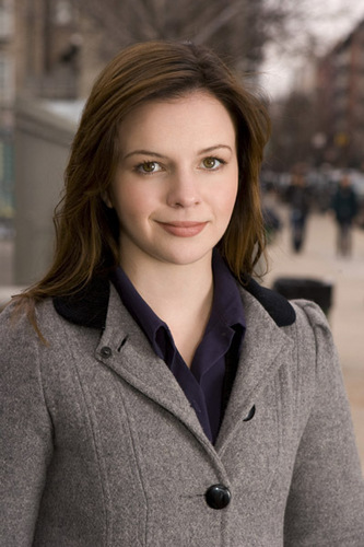 Amber Tamblyn kertas dinding probably containing a kacang, pea jaket and an outerwear entitled Amber foto