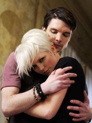 Andrew Lee Potts and Hannah Spearritt