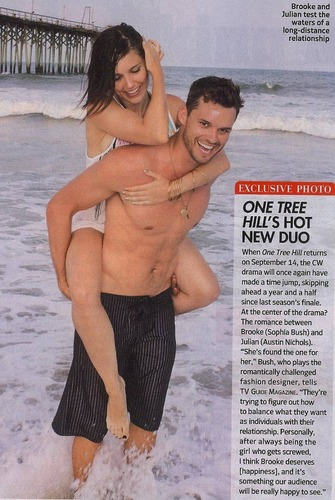Brooke and Julian karatasi la kupamba ukuta containing a bikini and skin entitled Brulian TV Guide Scan *HQ