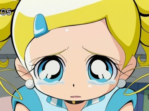 Bubbles (PowerPuff Girls) kertas dinding containing Anime titled Bubbles