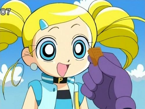 Bubbles (PowerPuff Girls) kertas dinding possibly with Anime entitled Bubbles