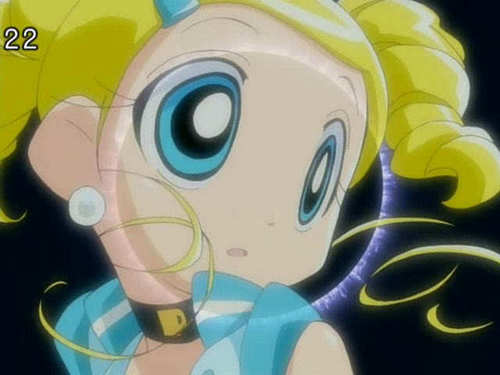 Bubbles (PowerPuff Girls) kertas dinding called Bubbles