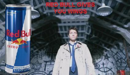 Castiel drinks Red stier