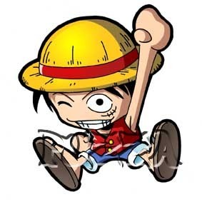 monkey d. luffy wallpaper with animê entitled chibi Luffy