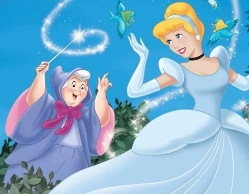 cinderela and her Fairy Godmother