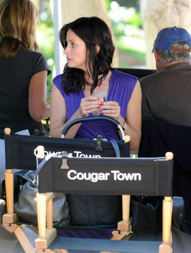 Courteney on set 20/8