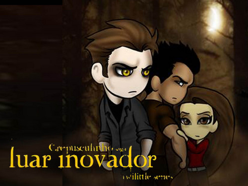 EDWARD, BELLA AND JACOB  - twilight-crepusculo Wallpaper