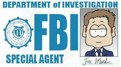 FBI Agent rubah, fox Mulder