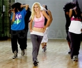 Heidi practising her dance routine