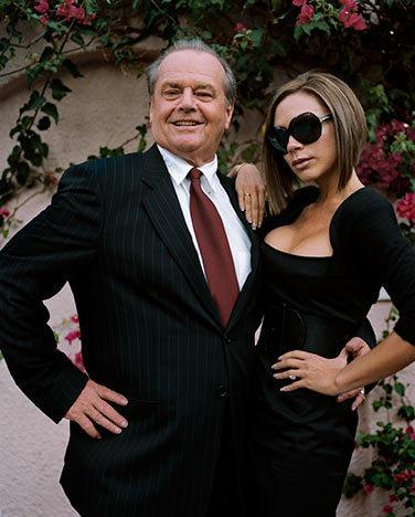 Jack Nicholson and Victoria Beckham