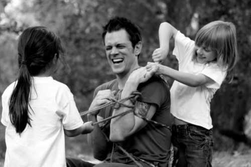 Johnny Knoxville 바탕화면 probably containing a horse trail, a horse wrangler, and a lippizan entitled Johnny Knoxville's Shari MacDonald's 'Lifestyle' Photoshoot