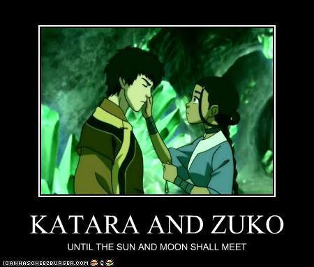 Zuko Kissing Katara Katara And Zuko Avatar The