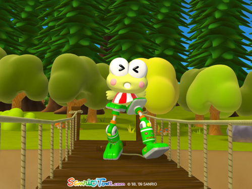 Keroppi on Stilts