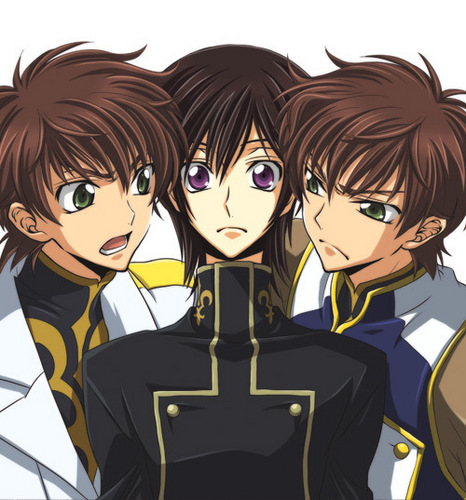 Lelouch and Suzaku (Code Geass)