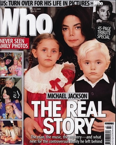 M.J magazine and kids..front cover!!