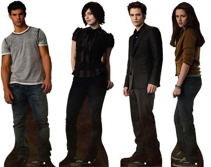 New Moon Cardboard Cutout of Edward, Jacob, Alice and Bella!!!