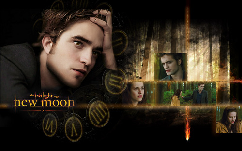 New moon widescreen kertas dinding