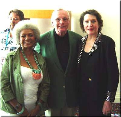 Nichelle Nichols,Majel Barrett Roddenberry and Neil Armstrong