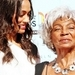 Nichelle Nichols and Zoe Saldana - Uhura Now and Then