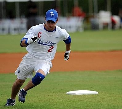 Nick. Playing softball.