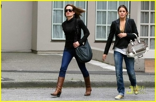 Nikki and Elizabeth Leaving private New Moon screening