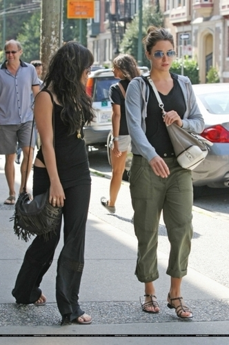 Nikki with friend Vanessa Hudgens in Vancouver - 16th August