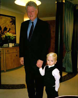 Prince and Bill Clinton