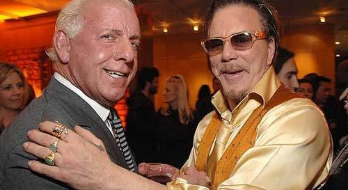 Ric Flair with Mickey Rourke