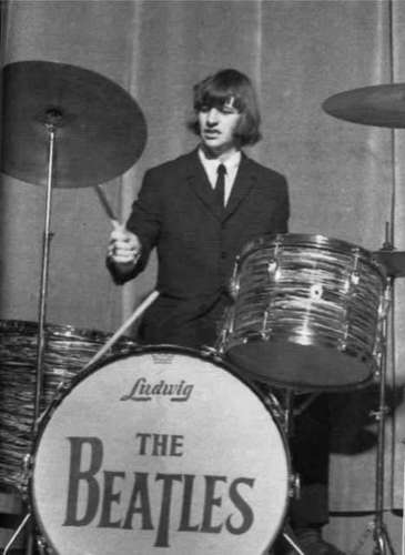 The Beatles Wallpaper With A Drummer Tenor Drum And Bass Titled Ringo Starr