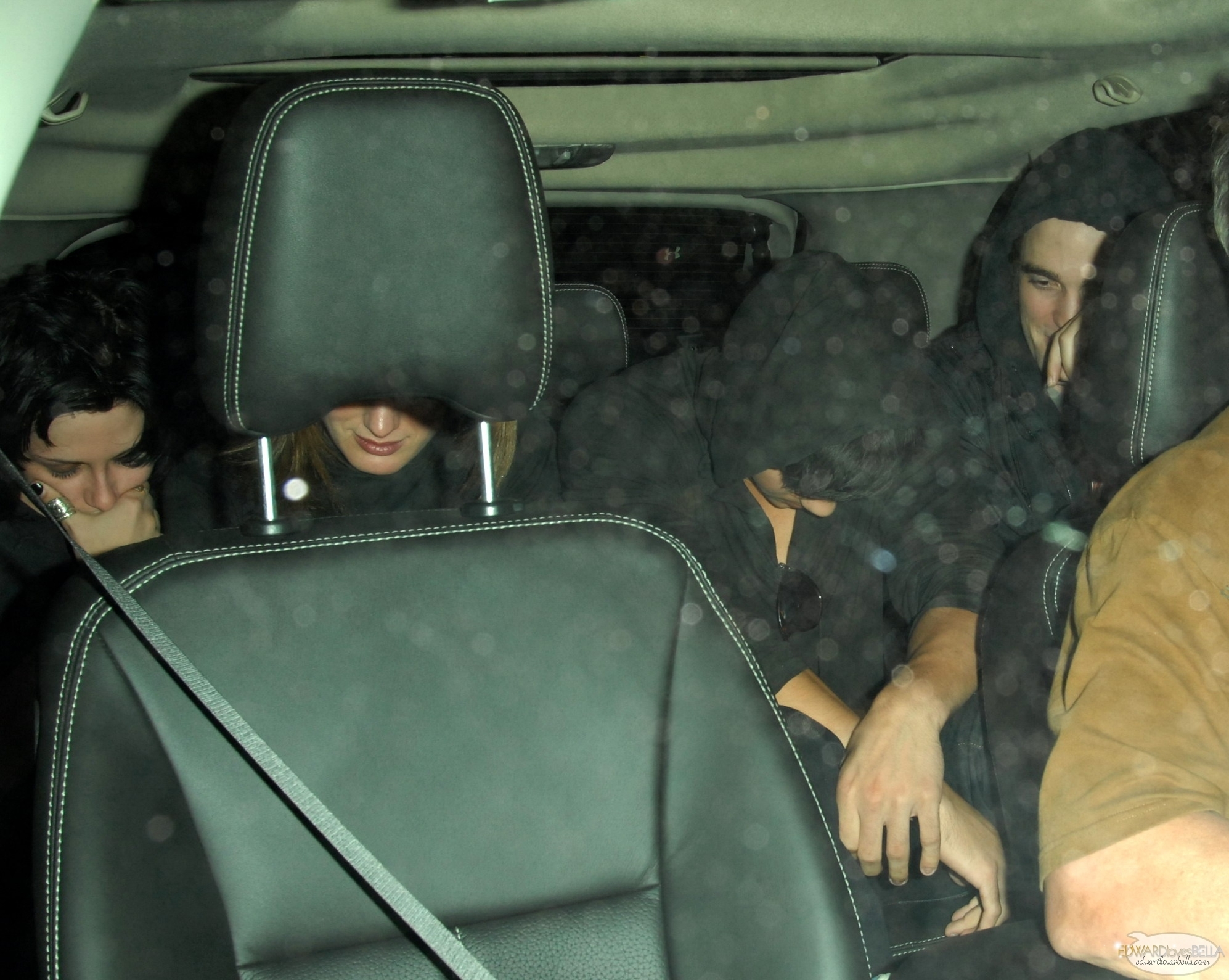 Rob, Kris, Eliz and Taylor leaving Water St. Cafe in Vancouver on August 15th