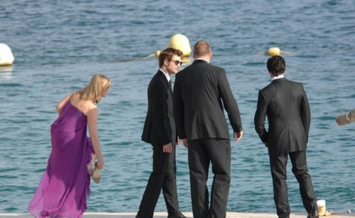 Rob! So hot in elegant dress!