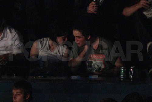 Rob and kristen get cosy