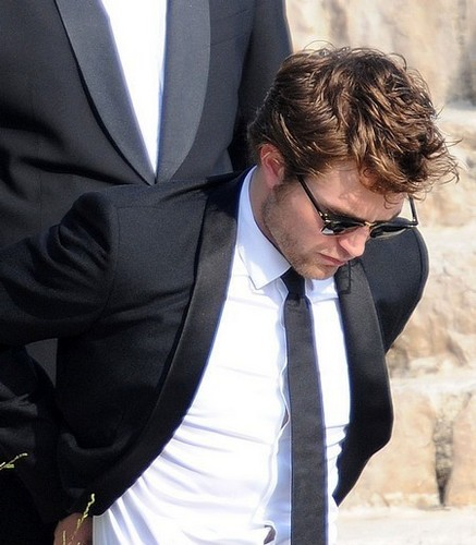 Rob looks so hot in elegant dress!