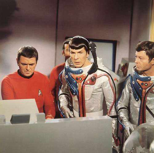 Scotty, Spock and Bones