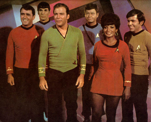 Star Trek: The Original Series wallpaper containing a business suit called Star Trek Cast