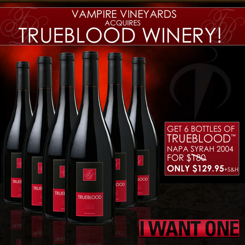 真爱如血 壁纸 entitled True Blood Wine