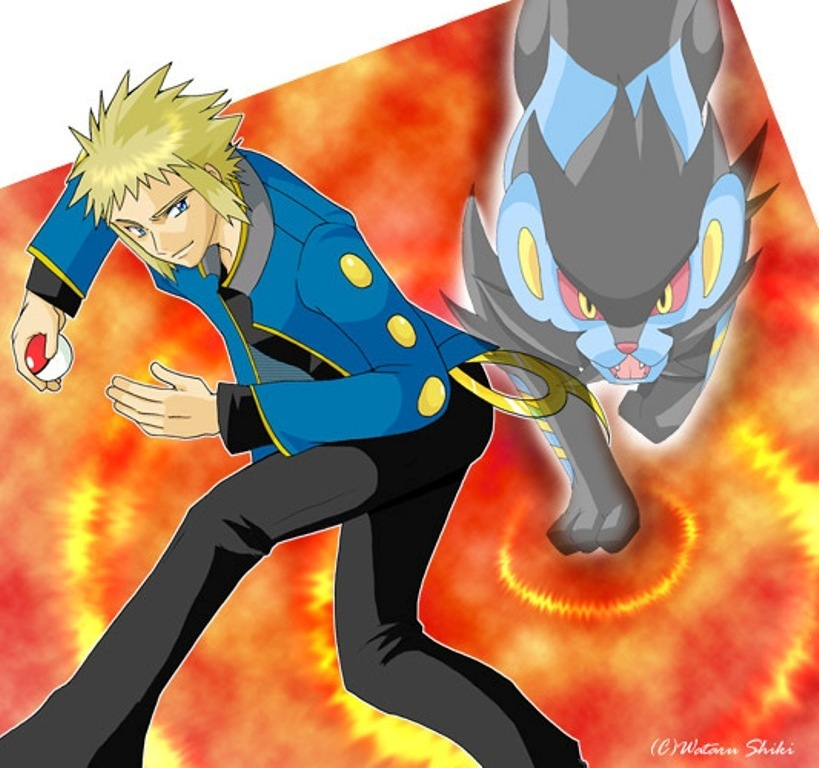 Gym Leader Pokemon Images Volkner And Luxray HD Wallpaper Background Photos