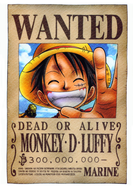Wanted Dead Or Alive - Monkey D. Luffy Photo (7714715) - Fanpop