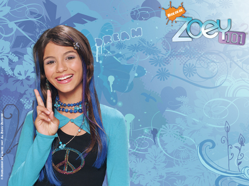 Zoey 101 پیپر وال probably with a کاک, کاکٹیل dress and a portrait entitled Zoey 101 پیپر وال 2