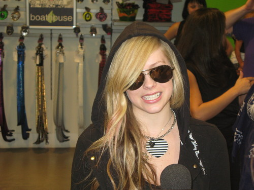 avril with bandaids