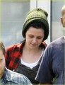 kristen stewart heads to hair and makeup - twilight-series photo