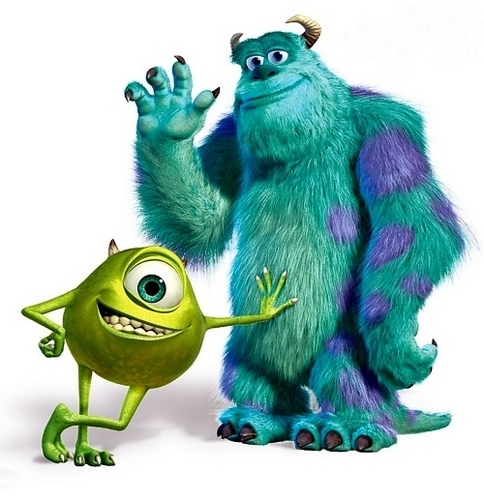 monsters, inc. fondo de pantalla titled mike and sully