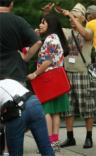 on set of ugly betty- aug 19/09